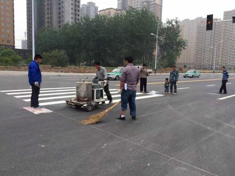 河南开封停车场划线|开封道路划线|开封热熔划线|开封冷喷标线