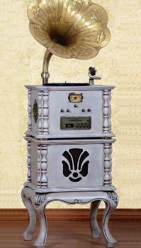 优迪声留声机 古典留声机 YM-D216 复古涡轮大唱臂