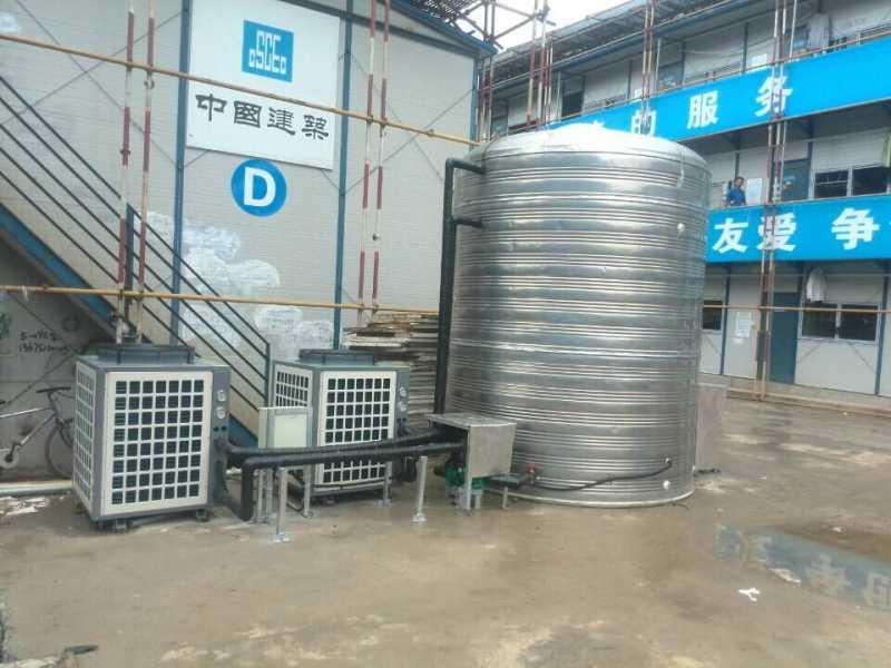 江苏欧贝提供工地员工洗浴空气能热水器工程