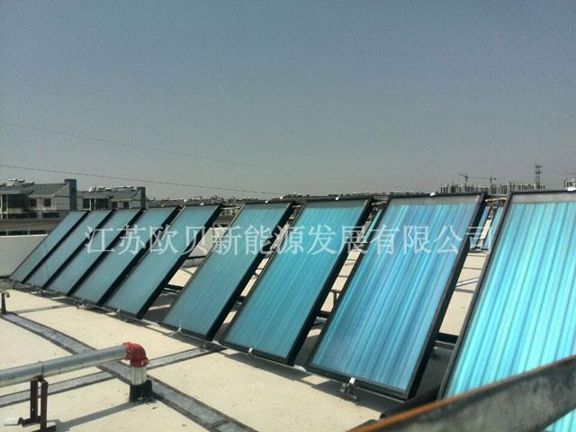 江苏欧贝常州孟河幼儿园再添平板太阳能工程