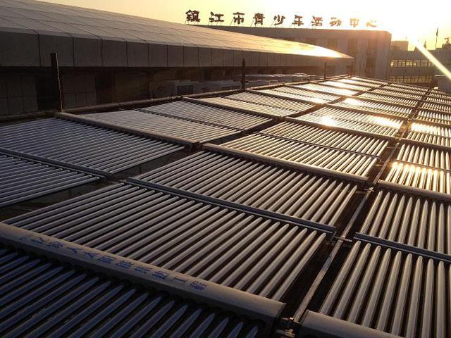 江苏欧贝镇江索普中学1200吨游泳池热水工程竣工