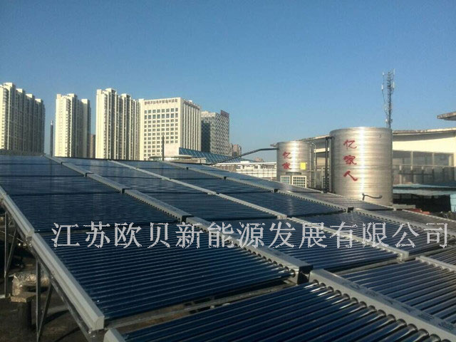 江苏欧贝为泰州鑫聚康酒店打造10吨空气源热水工程