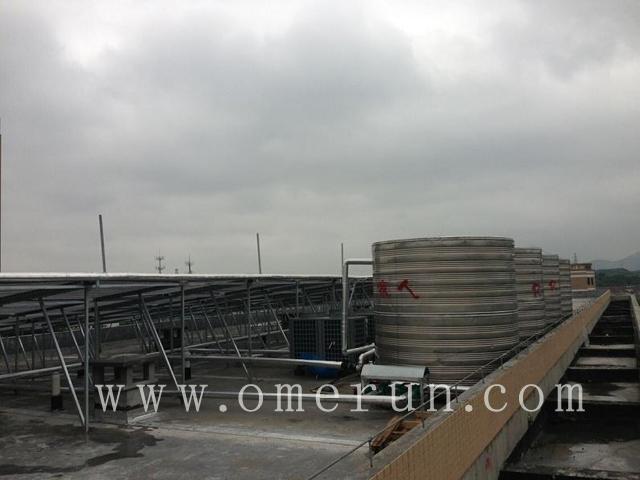 江苏欧贝承接杭二中树兰实验学校40吨热水工程竣工