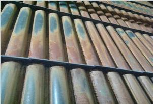 防磨超音速喷涂加装梳型导流板