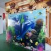 瓷砖背景墙上色机器  3D微晶复合地板印花工艺设备 瓷砖UV打印机