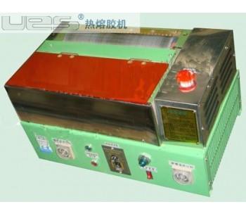 珠海珍珠棉热熔胶滚轮过胶机,广州包装材料UES热熔胶机