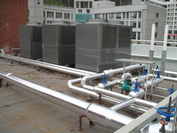 常州紫寅电子员工洗澡空气能热水工程