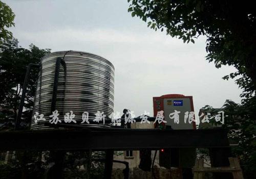 上海崇明屋顶花园酒店8吨热水系统