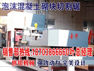 购高品质泡沫混凝轻质砖切割机信赖河南世邦机械生产厂家  L