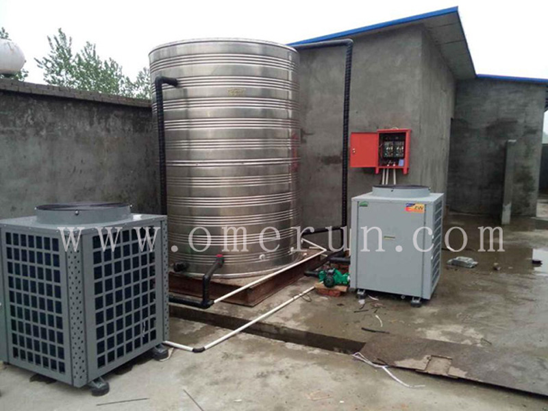 中铁芜湖项目部11吨空气能热水方案