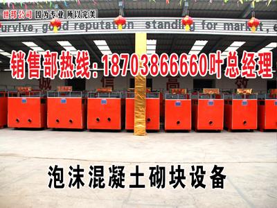 济源市世邦公司专业生产免蒸养加气块设备,销量好,质量好L
