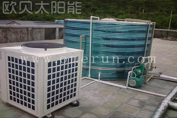 高邮湖度假区太阳能结合热泵热水工程