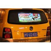 上海出租车后窗电子背投,亚瀚传媒专业发布