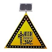静海太阳能减速慢行标志牌 交通标志牌 太阳能三角标志牌