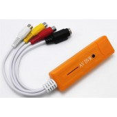 新款USB橙色 视频监控免驱采集卡 支持WIN/苹果系统IOS