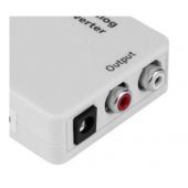高清数字转模拟光纤转双莲花同轴音频转模拟R/L音频转换器