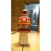 美女智能送餐机器人