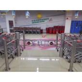 智能感应门生产厂家 超市入口单向摆闸门 欢迎光临感应门