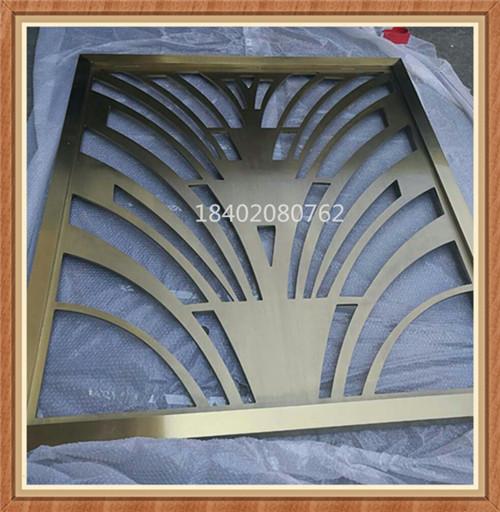 现代简约不锈钢屏风 钛金不锈钢隔断屏风 客厅玄关装修效果图