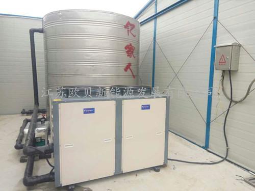 南通三建高淳工地热泵热水系统