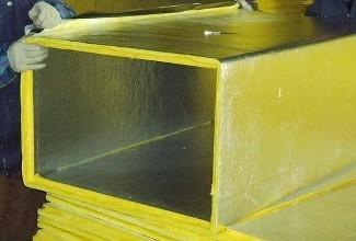 合肥通风管道优质复合风管记得德祥玻纤铝箔复合风管现场组装