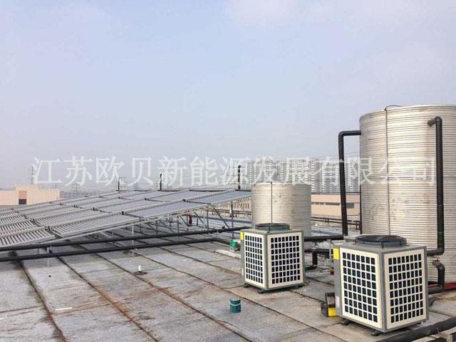 泰兴达利佳时装太阳能热泵热水工程