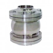 H61F卫生级法兰对焊止回阀-专业生产阀门邯高