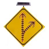 交通标志牌厂家 太阳能分道标志牌价格 分流标志