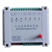 4路开关量采集器 无线IO modbus 无线接收发射器