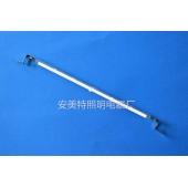 反射另一半热量半镀白加热管——安美特定制铁片头半镀白灯管