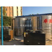 南京南瑞路中建三局20吨太阳能加 20匹空气能热泵热水工程