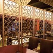 厂家直销304不锈钢隔断 不锈钢花格酒店屏风 镂空隔断 定制屏风