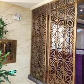 家装流行经典屏风隔断 现代装饰风格黑钛金不锈钢屏风 客厅隔断