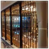 不锈钢屏风隔断玄关座屏中式现代客厅酒店玫瑰金镂空简约