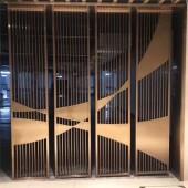 不锈钢屏风家装304拉丝玫瑰金不锈钢屏风隔断来电咨询来图咨询