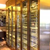 厂家直销不锈钢恒温酒柜常温酒柜洋酒架使用于家庭酒吧酒店西餐厅