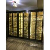 不锈钢酒柜定制 会所高端红酒展示柜 创意304不锈钢恒温酒柜